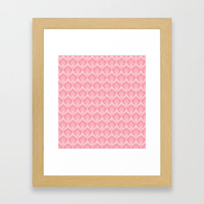 Damask in Pink Framed Art Print