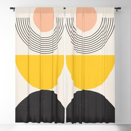 Abstract Geometric 61 Blackout Curtain