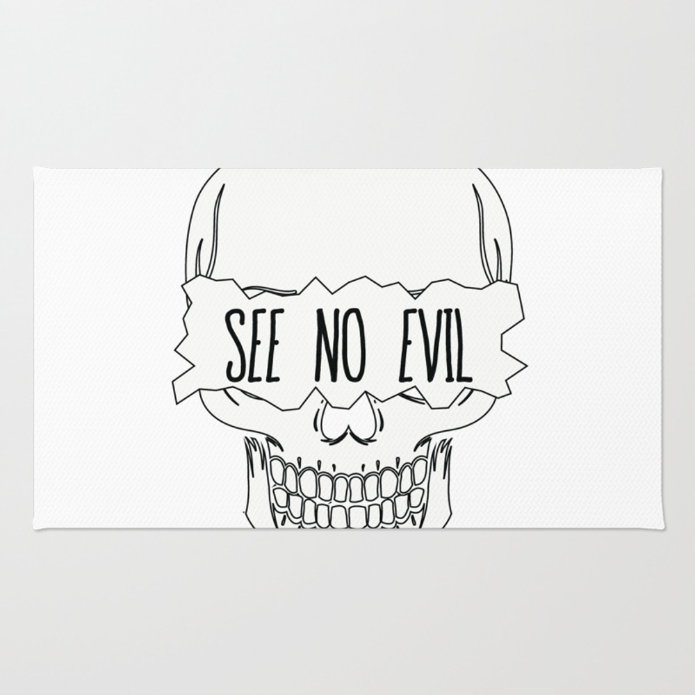 See No Evil Rug by Fosterchild RUG7754234