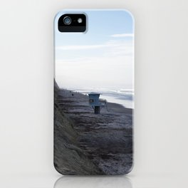 Lifeguard Stand on Beach iPhone Case
