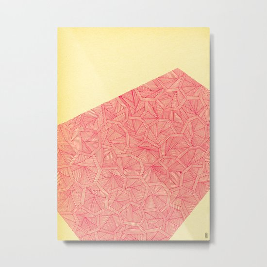 - summer : the monolith is pink - Metal Print