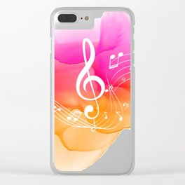 Watercolor, Musical Notes, watercolor t-shirt, watercolor sticker Clear iPhone Case