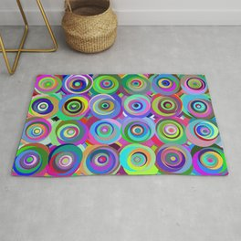 6x6 001 - abstract bouquet Rug