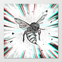 This wasp is pissed! Canvas Print