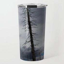 Burned Tree Against Sky Travel Mug