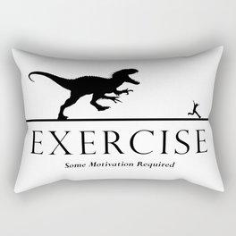 Exercise - black Rectangular Pillow