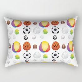 Easter sport balls Rectangular Pillow