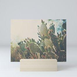 desert prickly pear cactus ... Mini Art Print