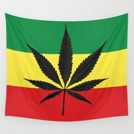 Marijuana leaf Wall Tapestry