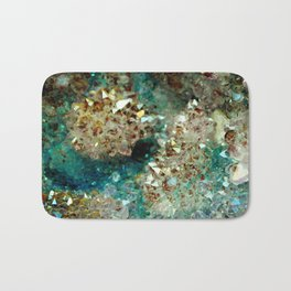 SPARKLING GOLD AND TURQUOISE CRYSTAL Bath Mat