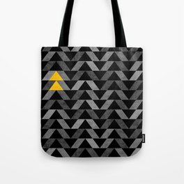 Triangle -Yellow and Grey Tote Bag