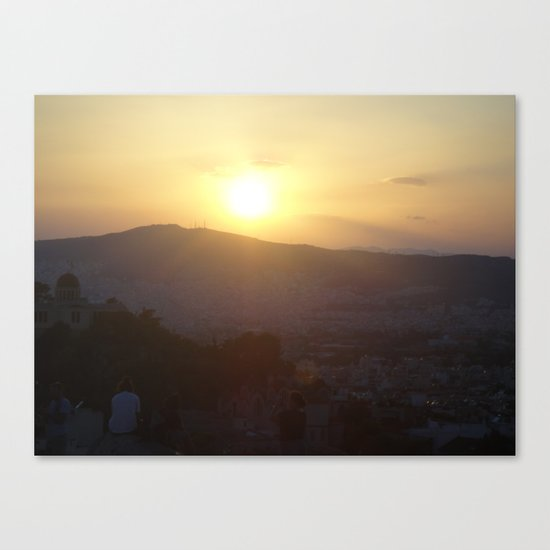 Sunset in Athens - Greece Canvas Print
