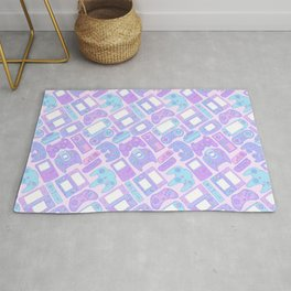 Video Game Controllers in Pastel Colors Rug