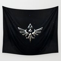 zelda Wall Tapestries featuring Zelda TRIFORCE by Kesen