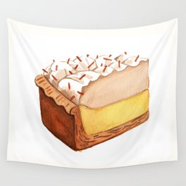 Coconut Cream Pie Slice Wall Tapestry