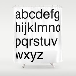Helvetica Shower Curtain