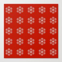 Snowflakes pattern Canvas Print