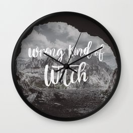 Manon Blackbeak - Wrong kind of witch Wall Clock