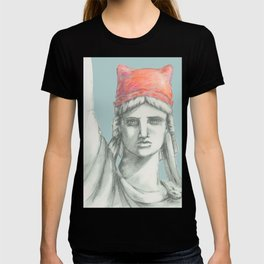Liberty in PINK skyblue T-shirt