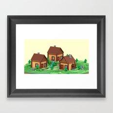 voxel hamlet Framed Art Print