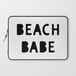 Beach Babe Summer Decor Phrase Laptop Sleeve