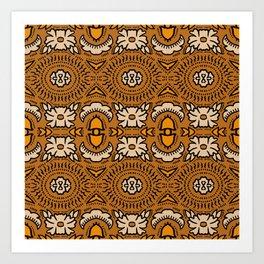 BANDANA GOLD BROCADE Art Print