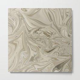 Desert Clay Marble Metal Print