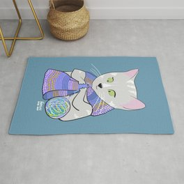 Autumn and winter cats - knitting Rug