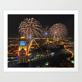 Red,White and Boom Art Print