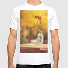 Autumn colors White MEDIUM Mens Fitted Tee