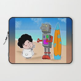 Oinkbot, the world's first surfing robot Laptop Sleeve