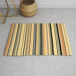 High Society Vintage Yellow Black White Stripes 001 - Corbin Henry Rug