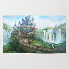 epic fantasy castle  Rug