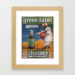 Vintage poster - Green Label Indian Mango Chutney Framed Art Print