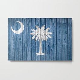 South Carolina State Flag Barn Wall Print Metal Print