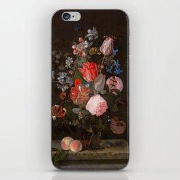 "Adriaen van der Spelt ""Still life of flowers on a stone ledge"" iPhone Skin"