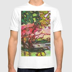 Cherry Blossom Time Mens Fitted Tee MEDIUM White