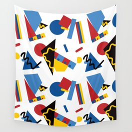 Postmodern Primary Color Party Decorations Wall Tapestry
