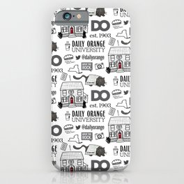 Daily Orange Pattern iPhone Case