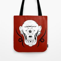 cyclops Tote Bags featuring Cyclops by Jorge Daszkal