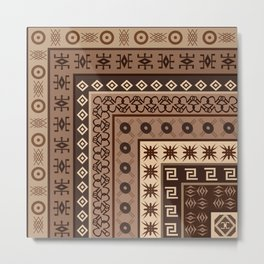 Background with African motifs Metal Print