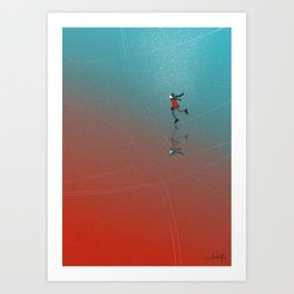 Winter picture Art Print