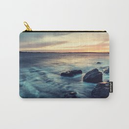 Sunset on the Breakwater Carry-All Pouch