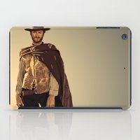 clint barton iPad Cases featuring Clint Eastwood by Thousand Lines Ink