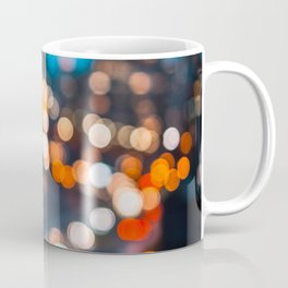 Bokeh view of Downtown Manhattan Coffee Mug