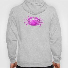 Nautical Pink Crab Linen Hoody
