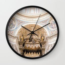 Saint Peters Cathedral, San Pietro, Vatican City, Rome, Italy Wall Clock