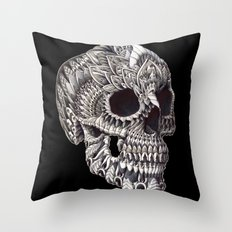 Ornate Skull Throw Pillow