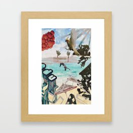 Surrealist Summer Framed Art Print