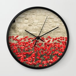Tower Poppies 02A Wall Clock